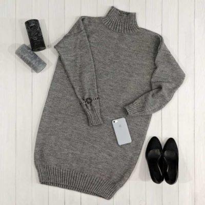 Платье свитер из шерсти оверсайз купить
