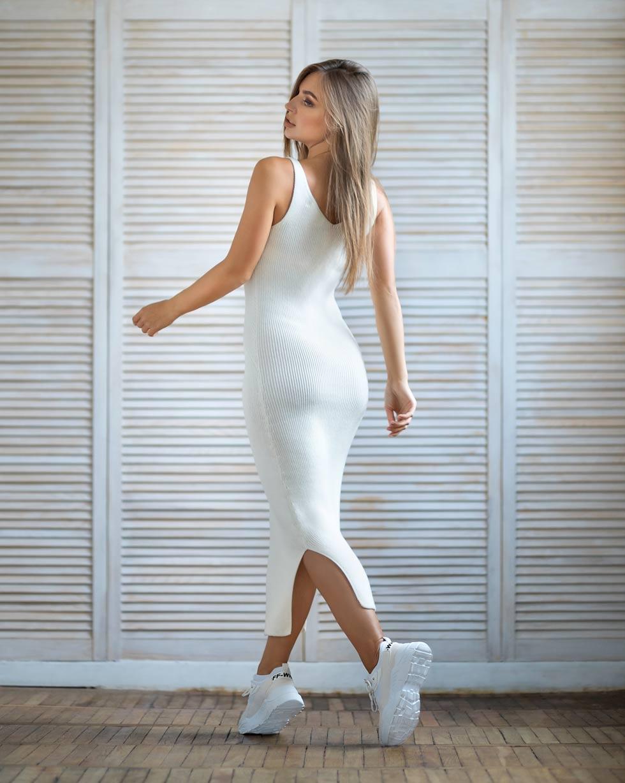 Летний сарафан Белого цвета