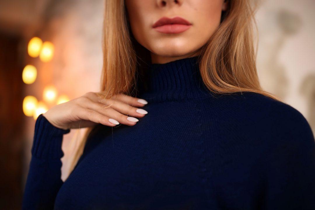 Платье-свитер Тёмно-синее