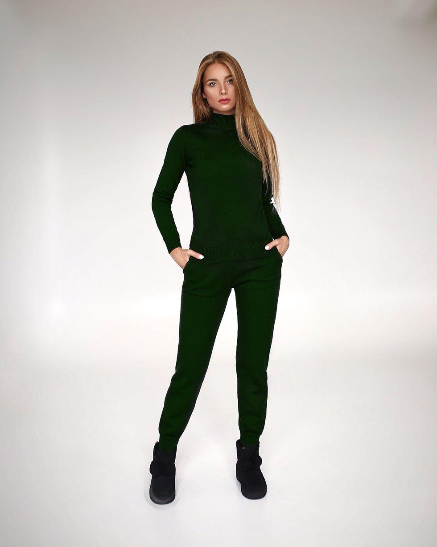 Koстюм из мериносовой шерсти в цвете Темно-зеленый