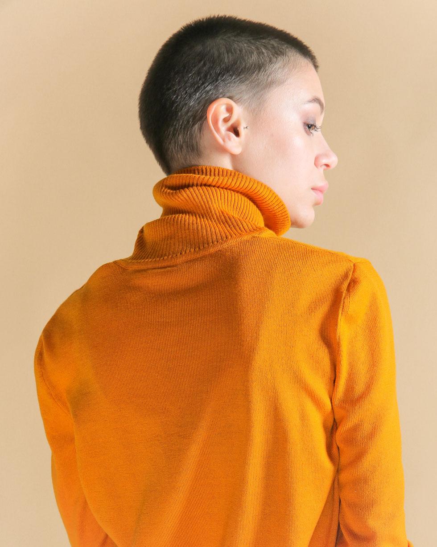 Гольф демисезонный базовый из мериноса Оранжевого цвета