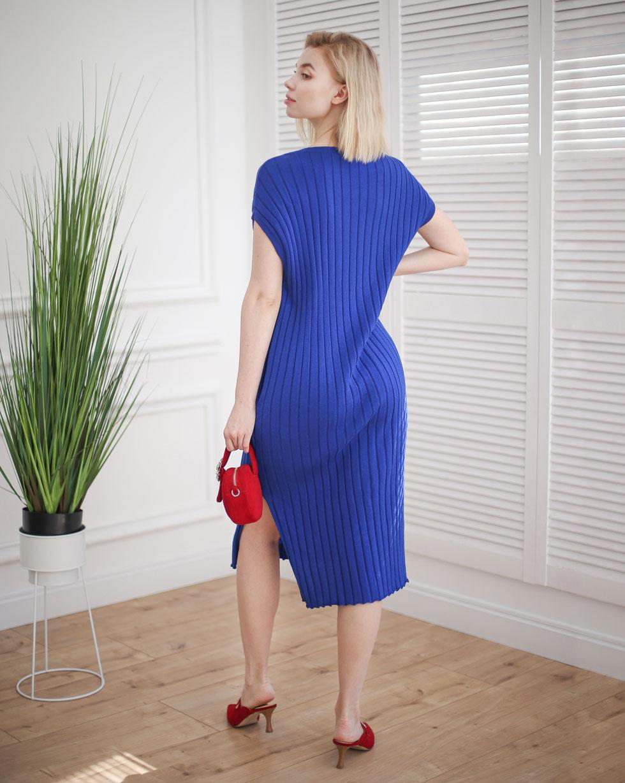 Летнее платье - накидка с V образным вырезом в цвете Электрик от LikeOn