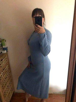Фото отзыв о демисезонном платье - поло из мериносовой шерсти LikeOn