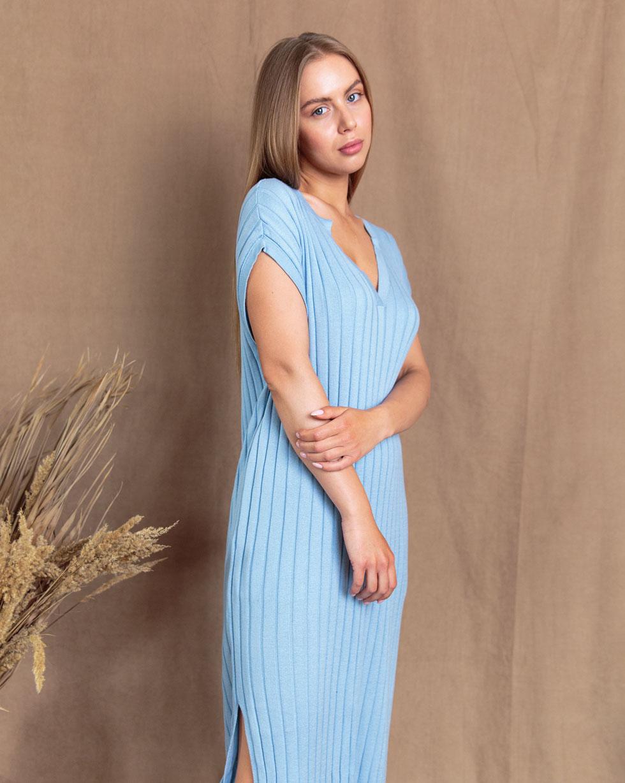 Летнее платье - накидка с V образным вырезом Голубого цвета от LikeOn