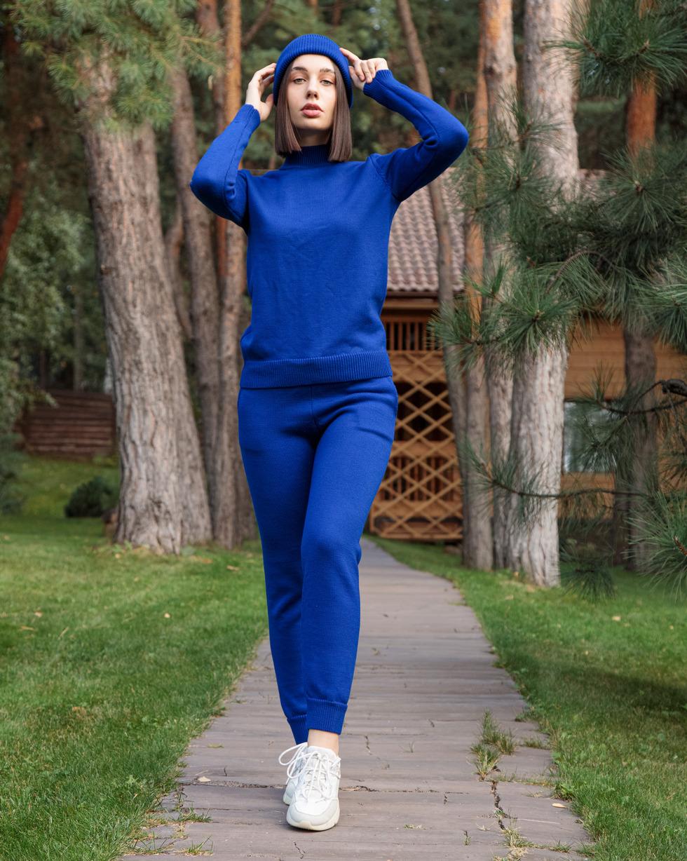 Зимний прогулочный костюм из шерсти мериноса в цвете Magic Blue